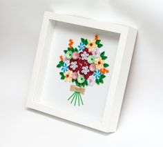Delicate Elegant Framed Wall Art Quilling Art Paper Art Quilled Flowers 3D Wall Decor Birthday Keepsake Anniversary Gift Floral Etsy by PaperParadisePL