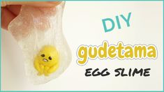 How to make polymer clay Gudetama with DIY slime! on this DIY tutorial i show how i combined polymer clay with clear slime. This can be a great Easter gift i...