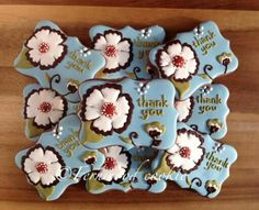 Fernwood Cookies: thank you plaque with beautiful flower