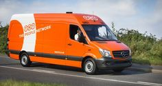 TNT The People Network Branded Delivery Van