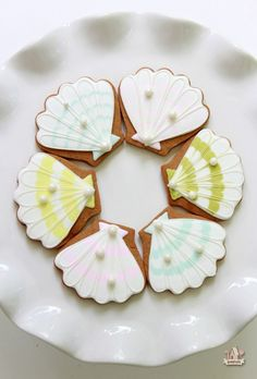 By the Sea Decorated Cookies   Sweetopia