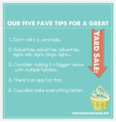 our five fave tips for a great yard sale