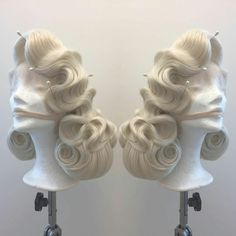 Vintage Hairstyles For Prom - 40s Hairstyles, Vintage Hairstyles, Wedding Hairstyles, Updo Hairstyle, Wig Styling, Drag Wigs, Diy Wig, Lgbt, Pin Up Hair