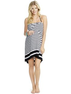 a44d922959014 Jessica Simpson Halter Maternity Swim Cover-up