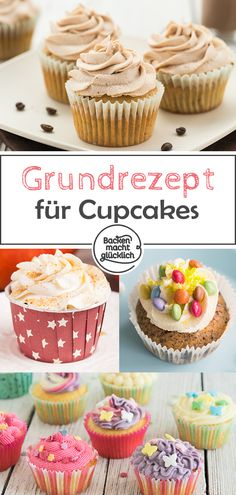 Simple cupcakes basic recipe with many tips for the perfect cupcake dough. The cupcake basic dough can be varied for example as a vanilla cupcake or chocolate cake The post Cupcakes basic recipe appeared first on Win Dessert. Easy Cupcake Recipes, Donut Recipes, Cookie Recipes, Dessert Halloween, Halloween Cupcakes, Torte Au Chocolat, Keto Donuts, Apple Smoothies, Cake Mix Cookies