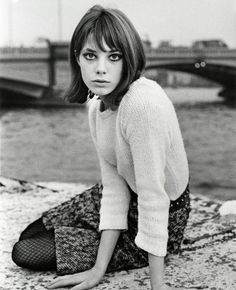 Mohair, tweed and studs - Jane Birkin.