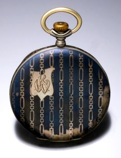 Swiss Niello Pocket Watch With Gilt Movement, C. 1900s