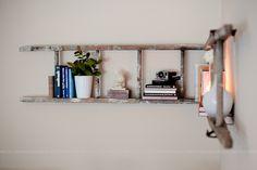 Creative DIY Bookshelves - Great Ideas & Tutorials! Including this ladder bookshelf from fresh mommy blog.