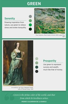 Colours and Emotions Meaning (psychology of color) is important for all artists! Let's look at Examples of Famous Artists The Use Color. Green Color Meaning, Green Colors, Color Blue, Color Symbolism, What Are Colours, Colors And Emotions, Color Psychology, Psychology Meaning, Psychology Studies