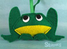 Felt Frog, Christmas Ornament, Felt Animal - Cooper the Frog
