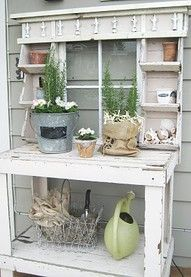 potting benches on pinterest potting benches potting tables and old