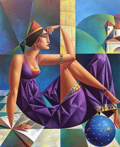 Cubist Artists, Cubism Art, Pop Art, Artist Portfolio, Art Et Illustration, Art Moderne, Amazing Art, Fantasy Art, Art Drawings