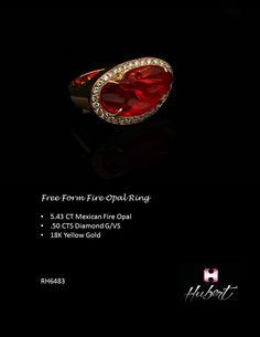 RH6483-Free Form Opal Ring