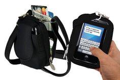 Cell Phone Purse - Black Purse Plus Touch – Charm14 Online Store