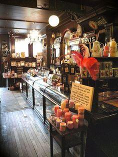 vintage apothecary counter