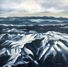 Flying Over Mt. Evans, Colorado-Acrylic Painting by Suzanne Connors Mount Everest, Graphic Design, Mountains, Nature, Artist, Travel, Painting, Creative, Naturaleza