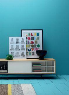 Lacquered solid wood sideboard AURA C3 by TREKU | #design Angel Martí, Enrique Delamo @TrekuMuebles