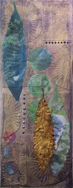 From Hilary B - can talk blog. Great information about adding texture to a canvas using stencils and molding paste, then adding color and gelli print pieces to it.