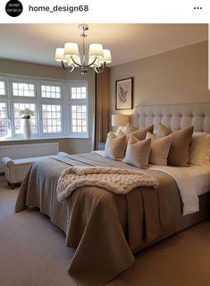 Sweet Master Bedroom Decor Ideas and Remodel ~ Beautiful House Tan Bedroom, White Bedroom Furniture, Room Ideas Bedroom, Master Bedroom Design, Cozy Bedroom, Bedroom Inspo, Dream Bedroom, Home Decor Bedroom, Modern Bedroom