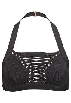 sila #bikinitop black hervé léger #hervéléger