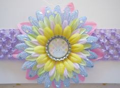 EASTER Sequin Fabric Flower Hair Clip Crochet by SweetieBeads, $8.00