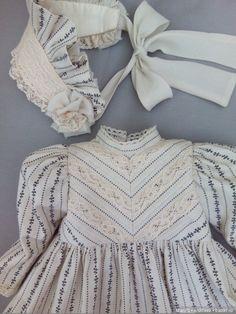 Wedding Dresses For Girls, Little Girl Dresses, Girls Dresses, Cute Outfits For Kids, Toddler Girl Outfits, Girls Fashion Clothes, Kids Fashion, Victorian Children's Clothing, Baby Dress Design