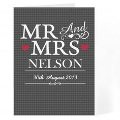 Personalised Mr & Mrs Card
