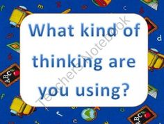 Thinking and Problem Solving Wall Signs for Word Wall product from Kirks-Corner on TeachersNotebook.com