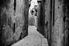 A small alley in Mdina, Malta