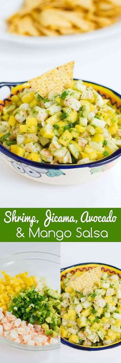 Serve up this awesome Shrimp, Jicama and Mango Salsa recipe with chips, or on top of lettuce as a light lunch! 62 calories and 1 Weight Watchers SmartPoint
