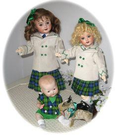 Daisy, Bluette, Bambino_40s fashions by Dress-a-Doll