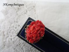 Vintage perfume ring by Nkempantiques on Etsy