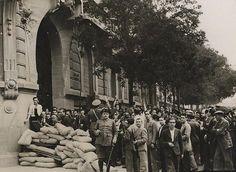Madrid antiguo Ferraz, milicianos GCE