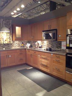 Attrayant From Ikea Showroom Kitchen Tile Backsplash