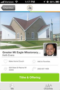 Greater Mt Eagle Missionary Baptist Church in Racine, WI #GivelifyChurches