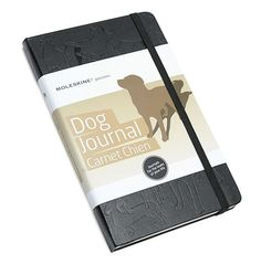 """Moleskine Passions Dog Journal. To record and recall all of your dog's info. Like, """"yesterday Miles got grass stuck in his underbite. It was the cutest thing ever!"""""""