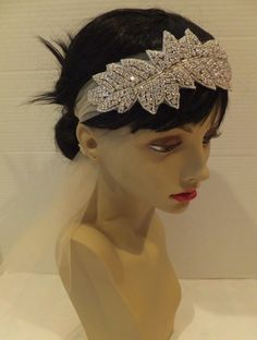Great Gatsby Bridal Headpiece Wedding by BellaCescaBoutique, $39.00