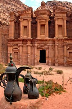 """Rose Red City"" - The Monastery (Al Dier) at Petra, Jordan"