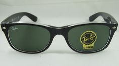 New Authentic Ray-Ban New Wayfarer Black / Green Polarized RB 2132 6052/58 52mm. 100% Authentic and brand new. Package contains: RB 2132 6052/58 52mm, Ray-Ban Original Box, Original Case, Cleaning Cloth, Literature. New , unused in the original packaging Gender: Unisex Protection: 100% UVA & UVB Brand: Ray-Ban Lens Technology: Polarized Style: New Wayfarer Made in: Italy Frame Color: TOP BLACK ON TRANSPARENT Retail: $190.00 Lens Color: CRYSTAL GREEN POLARIZED Size: 52mm Frame Material:...