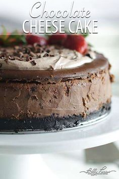 7c9c2b84a40cf7 Delicious Chocolate Cheesecake - if you seriously want the best dessert of  all time then look