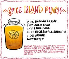 Cocktail Fridays: Spice Island Punch | Illustration: Shauna Lynn for Oh So Beautiful Paper