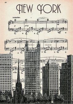 #Retro Poster - New York Music Artwork