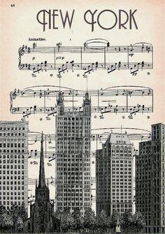 #Retro Poster - New York Music Artwork