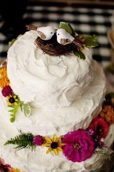 Cakes: Etsy.com - http://www.stylemepretty.com/portfolio/etsycom-2 Photography: Sugar Snap Photography - sugarsnapatl.com   Read More on SMP: http://www.stylemepretty.com/2012/03/12/backyard-diy-wedding-by-sugar-snap-photography/