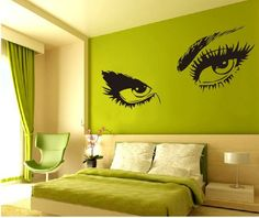 Man Silhouette Illustration Removable Wall Sticker Art Decals - Wall stickershuhushopxaudrey hepburn beautiful eyes removable