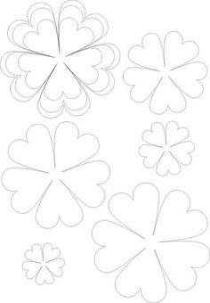 65 Mejores Imagenes De Plantillas Para Flores De Papel Fabric