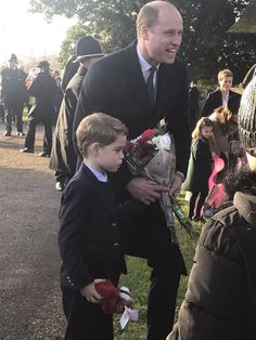 """""""Prince George and Princess Charlotte 🥰🎄 - i love George who always looked after her baby sister 🥰💕❤️"""""""