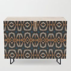 Pattern on pattern Credenza by psycheacrylic. Available in a warm, natural birch or a premium walnut finish. - x x (H) including legs - Steel legs available in gold or black - Interior shelf is adjustabl. Office Cabinets, Walnut Finish, Credenza, Birch, Cleaning Wipes, Shelf, Warm, Legs, Natural