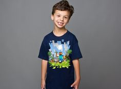 Jinx | Minecraft T Shirt - Minecraft Adventure (Kids Version) | Official UK Supplier