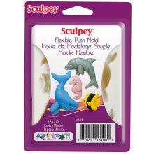 Sculpey Flexible Push Mold, Sea Life
